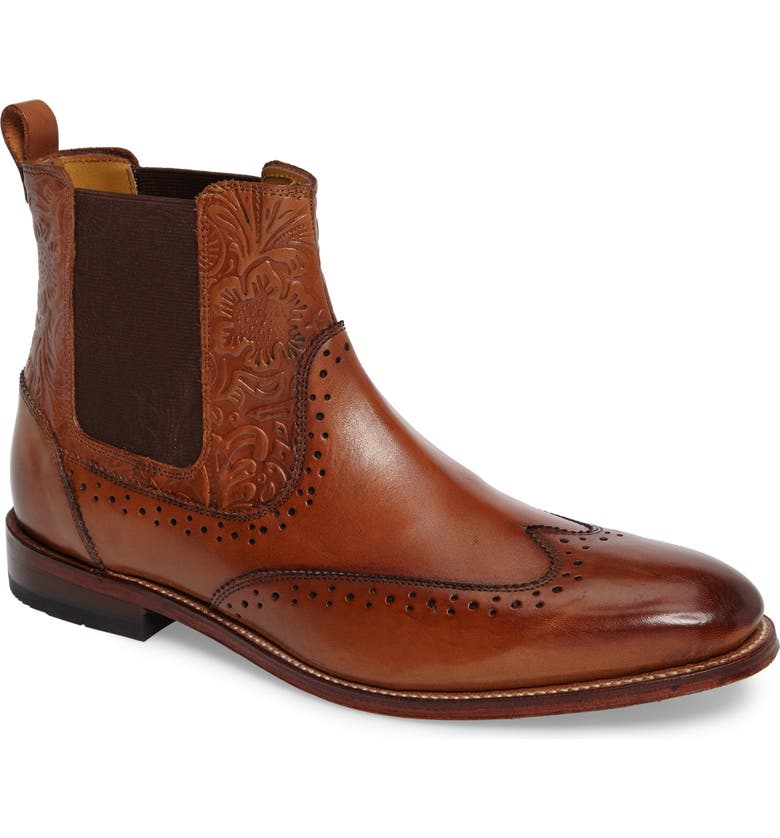 STACY ADAMS Madison II Wingtip Chelsea Boot, Main, color, 200