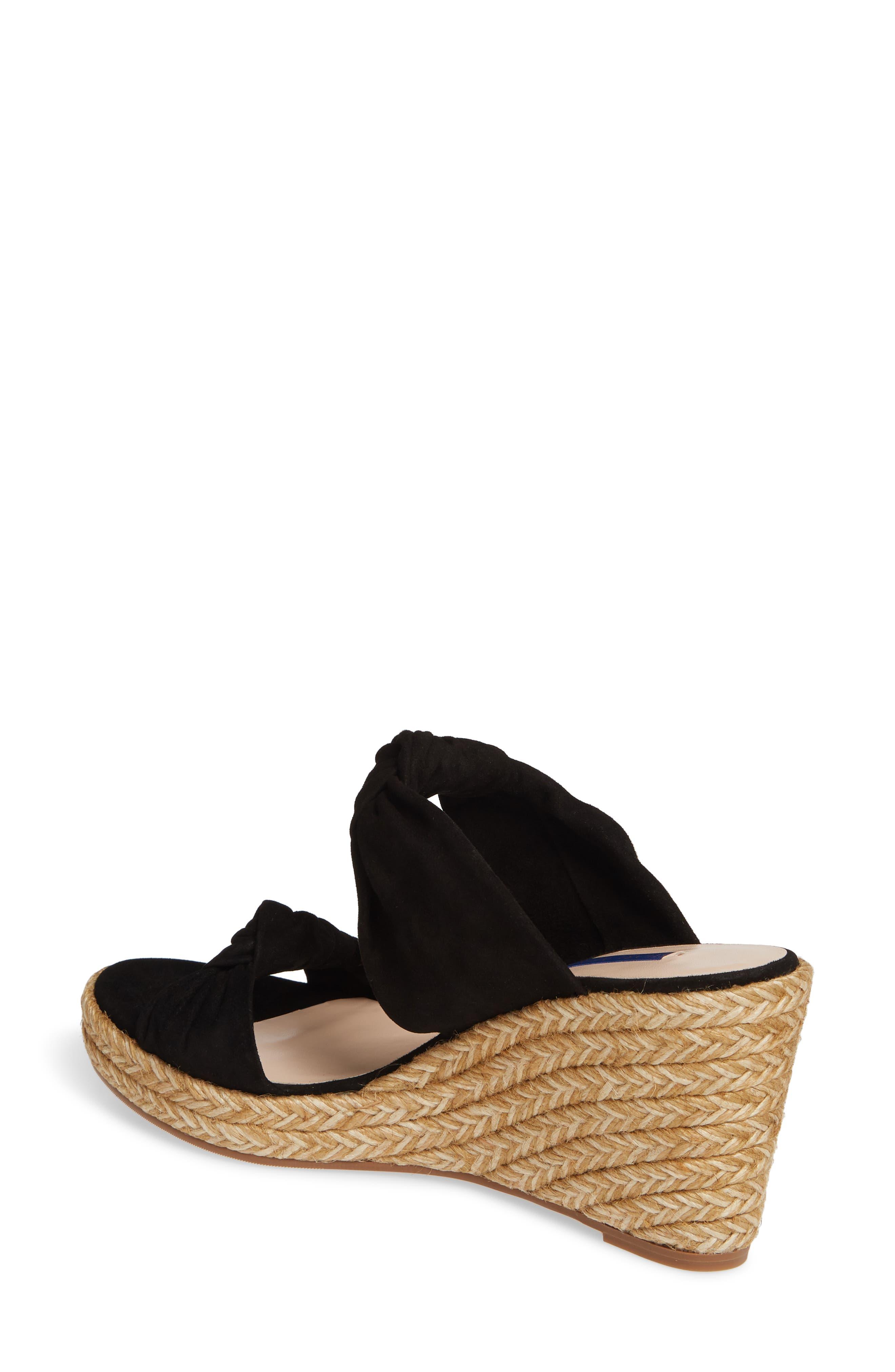 ,                             Sarina Espadrille Wedge Slide Sandal,                             Alternate thumbnail 2, color,                             BLACK SUEDE