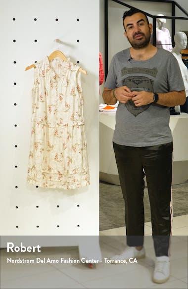 Ivie Floral Ruffle Silk Blend Dress, sales video thumbnail
