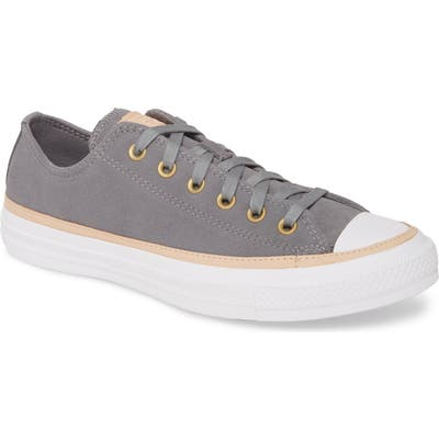 Converse Chuck Taylor All Star Vachetta Leather Sneaker, Grey