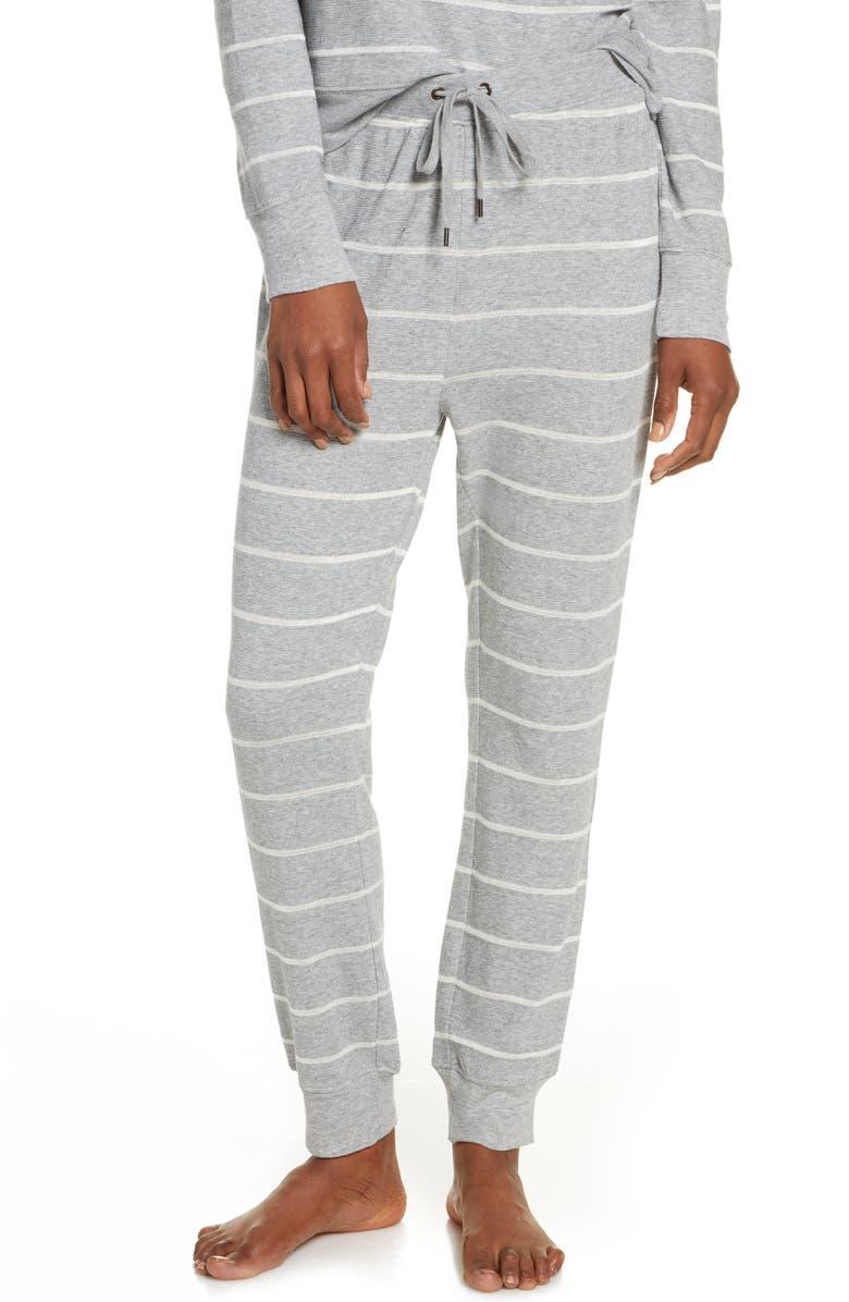 SPLENDID Crop Jogger Pajama Pants, Main, color, SOFT STRIPE