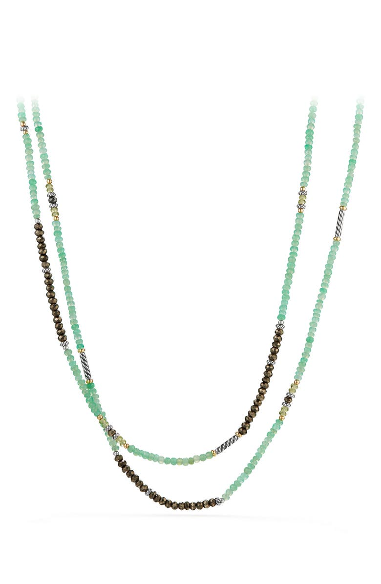 DAVID YURMAN Tweejoux<sup>®</sup> Gemstone Necklace with 18K Gold, Main, color, GOLD/ SILVER/ CHRYSOPRASE