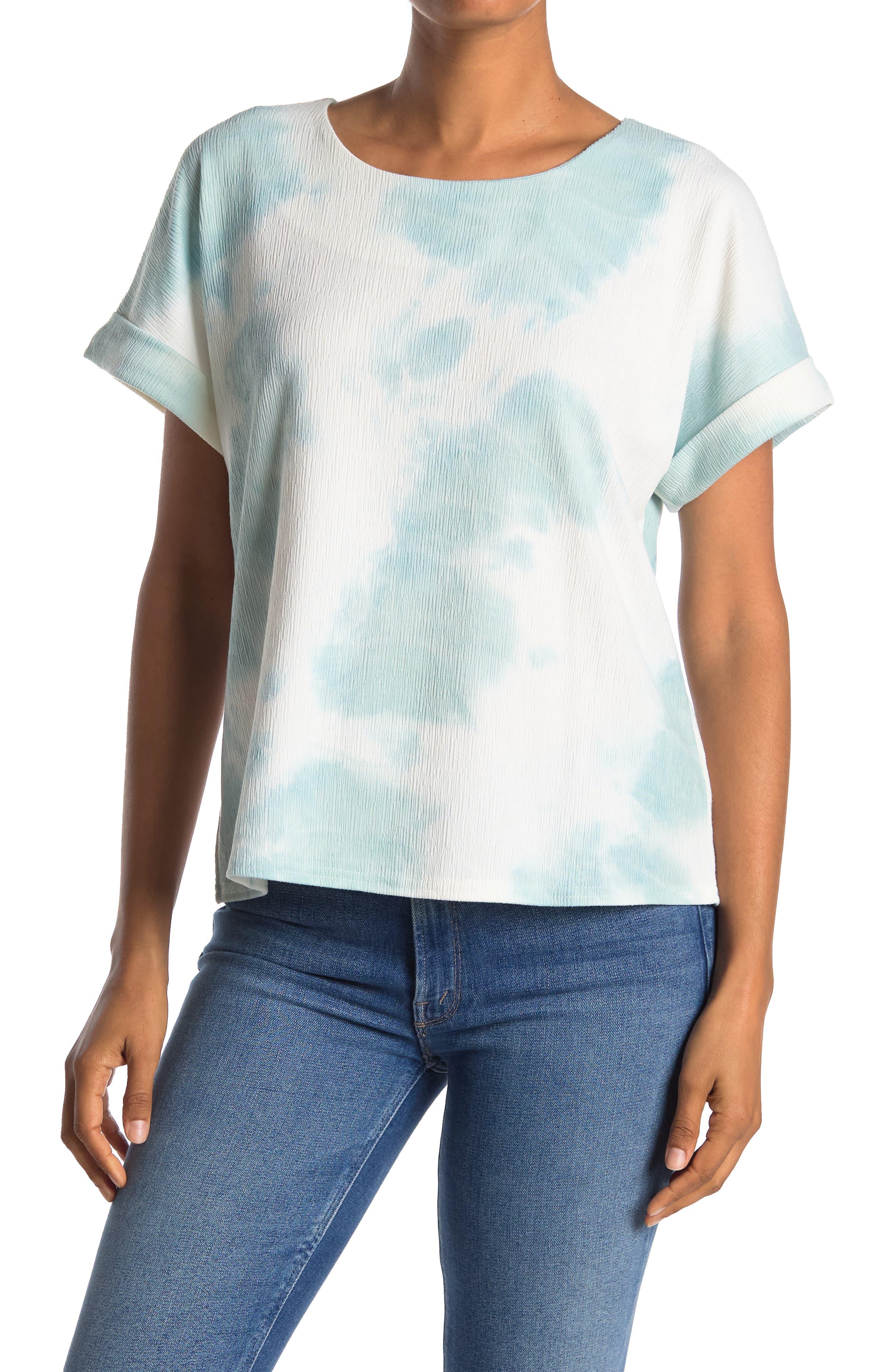Melloday Textured Short Sleeve Knit Shirt In Light/pastel Green3