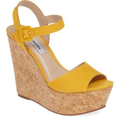 Steve Madden Citrus Platform Wedge Sandal, Yellow