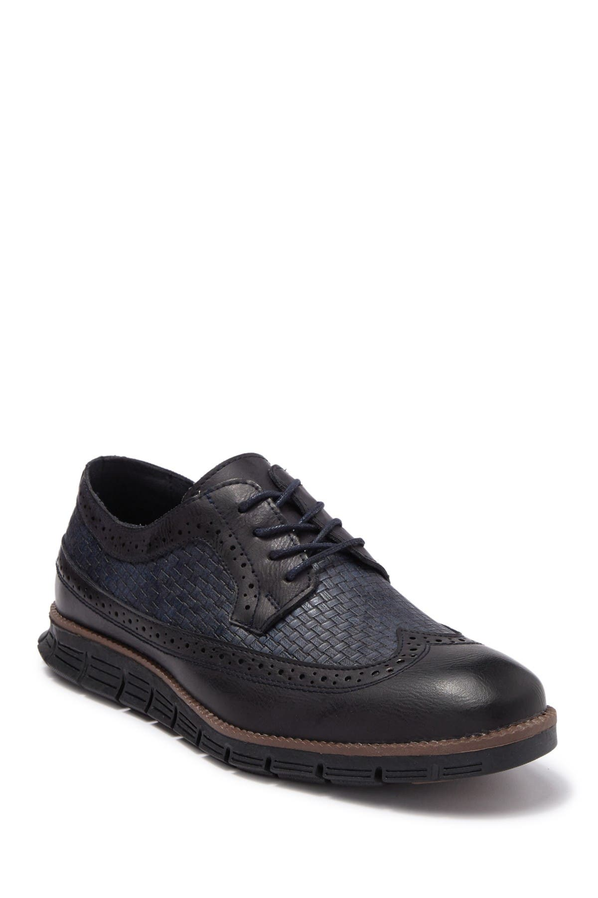 Image of XRAY Casual Woven Wingtip Lace Up Derby