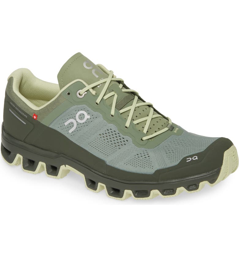 ON Cloudventure Water Repellent Trail Running Shoe, Main, color, RESEDA/ JUNGLE