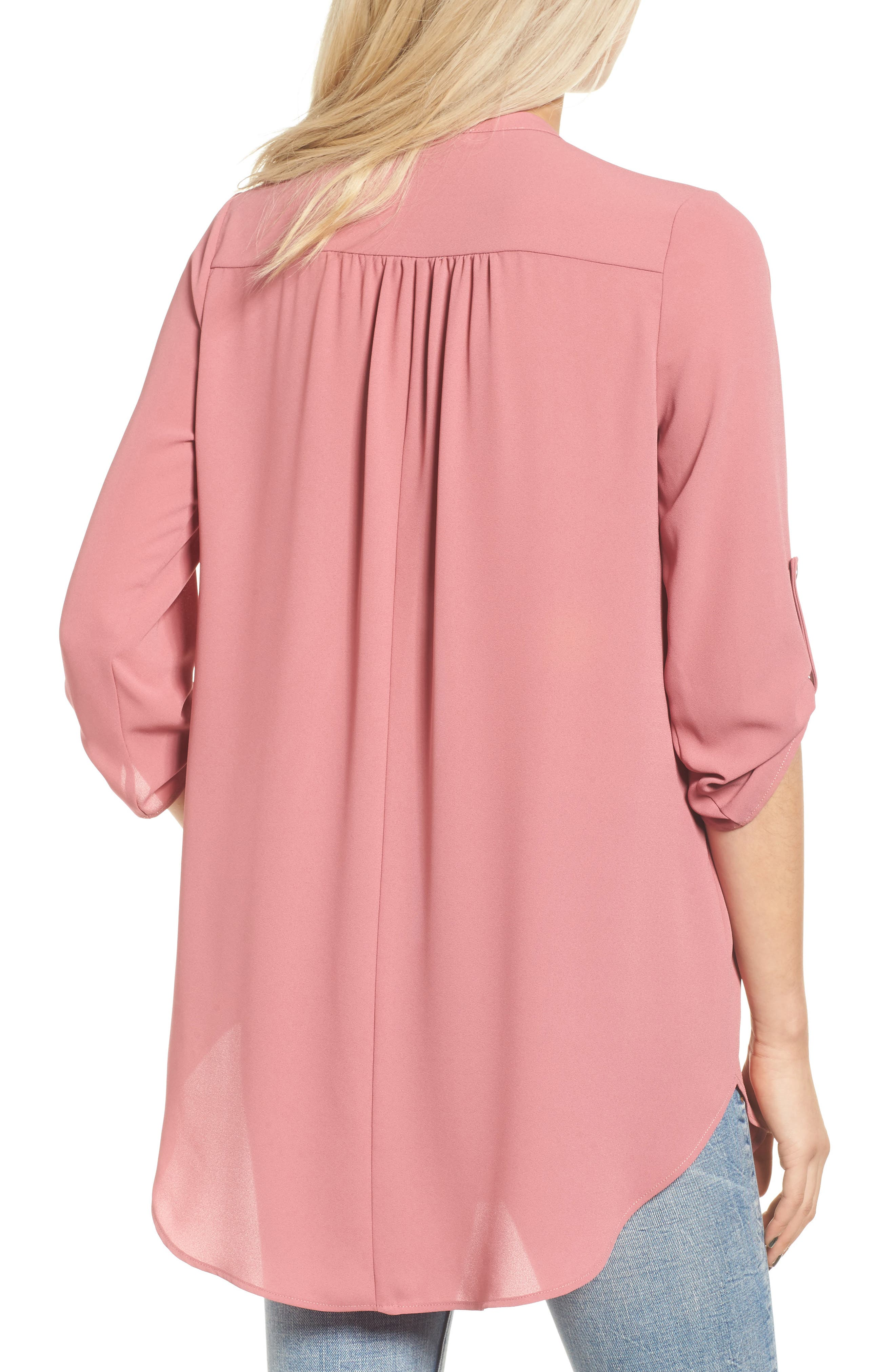 ,                             Perfect Roll Tab Sleeve Tunic,                             Alternate thumbnail 362, color,                             653