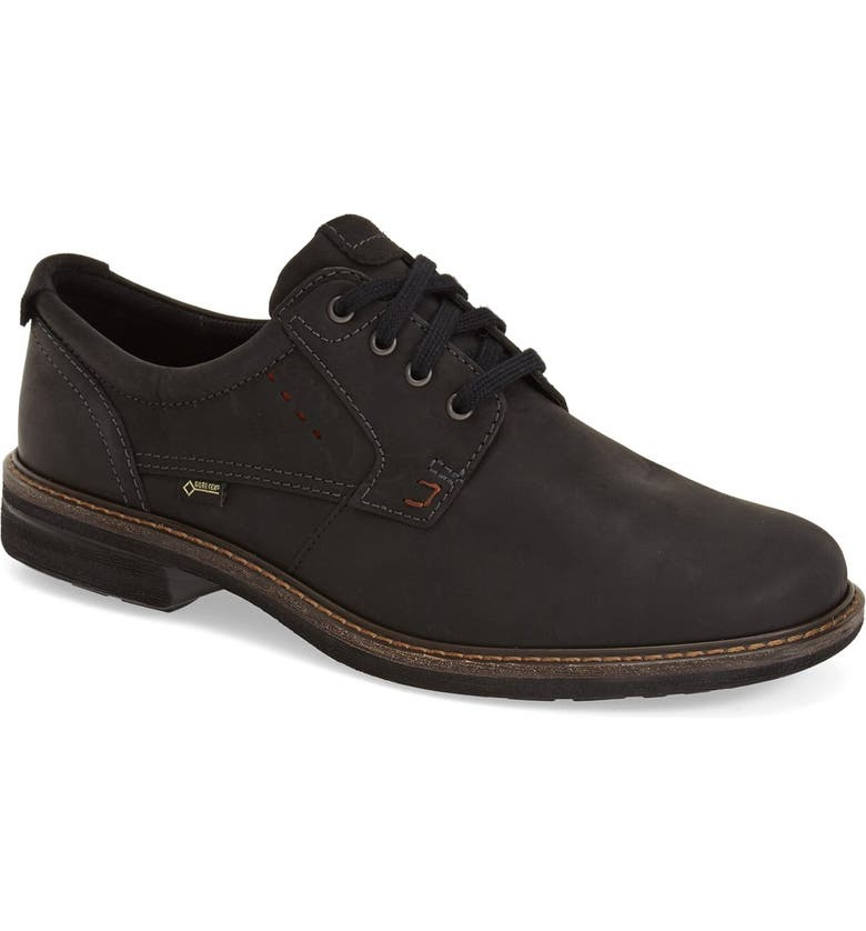 ECCO Turn GTX Waterproof Plain Toe Oxford, Main, color, 002