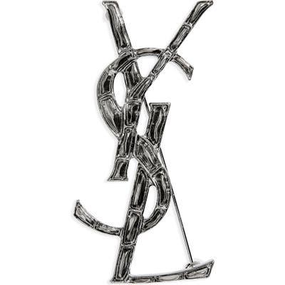 Saint Laurent Opyum Lait Branch Monogram Brooch