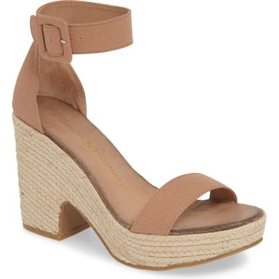 Chinese Laundry Queen Platform Sandal- Brown