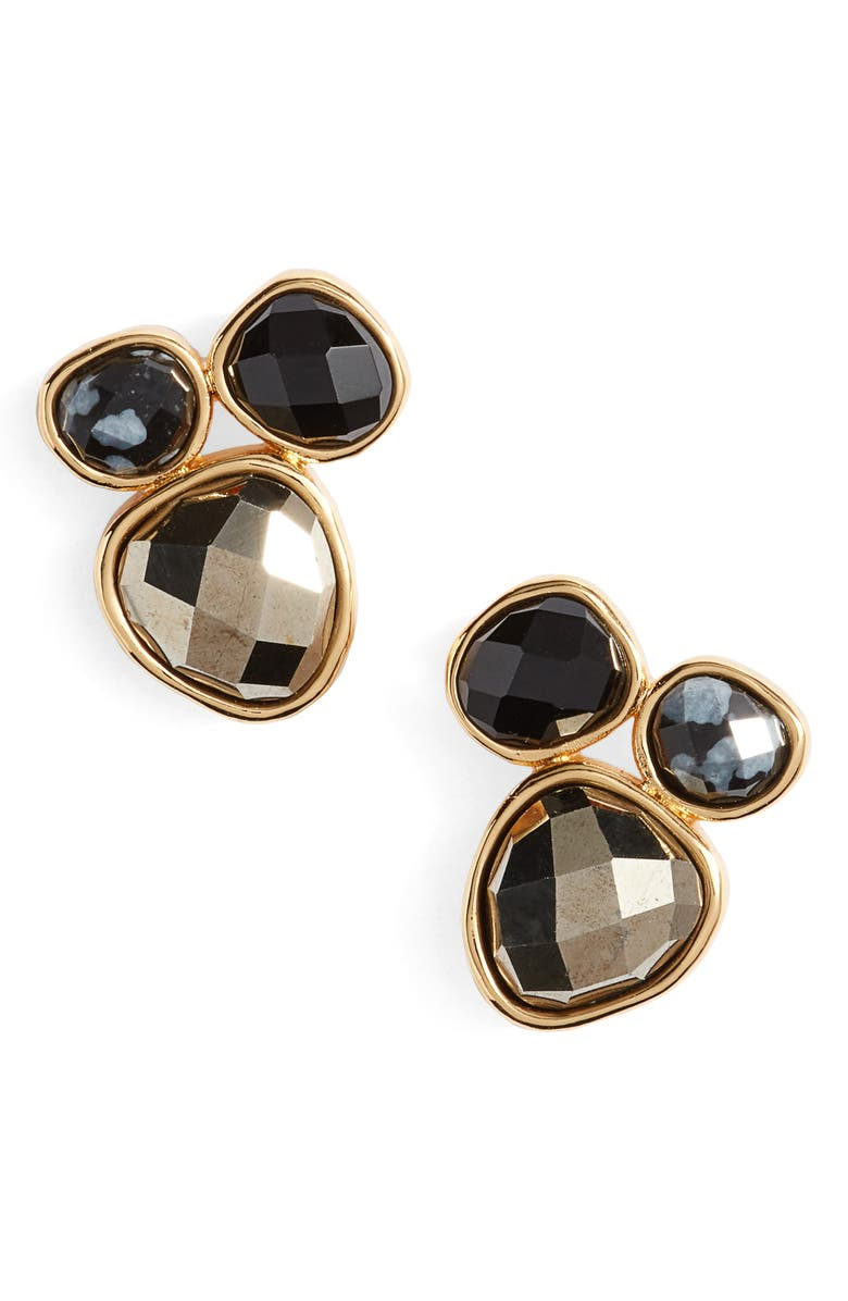 GORJANA Lola Semiprecious Stone Stud Earrings, Main, color, 001