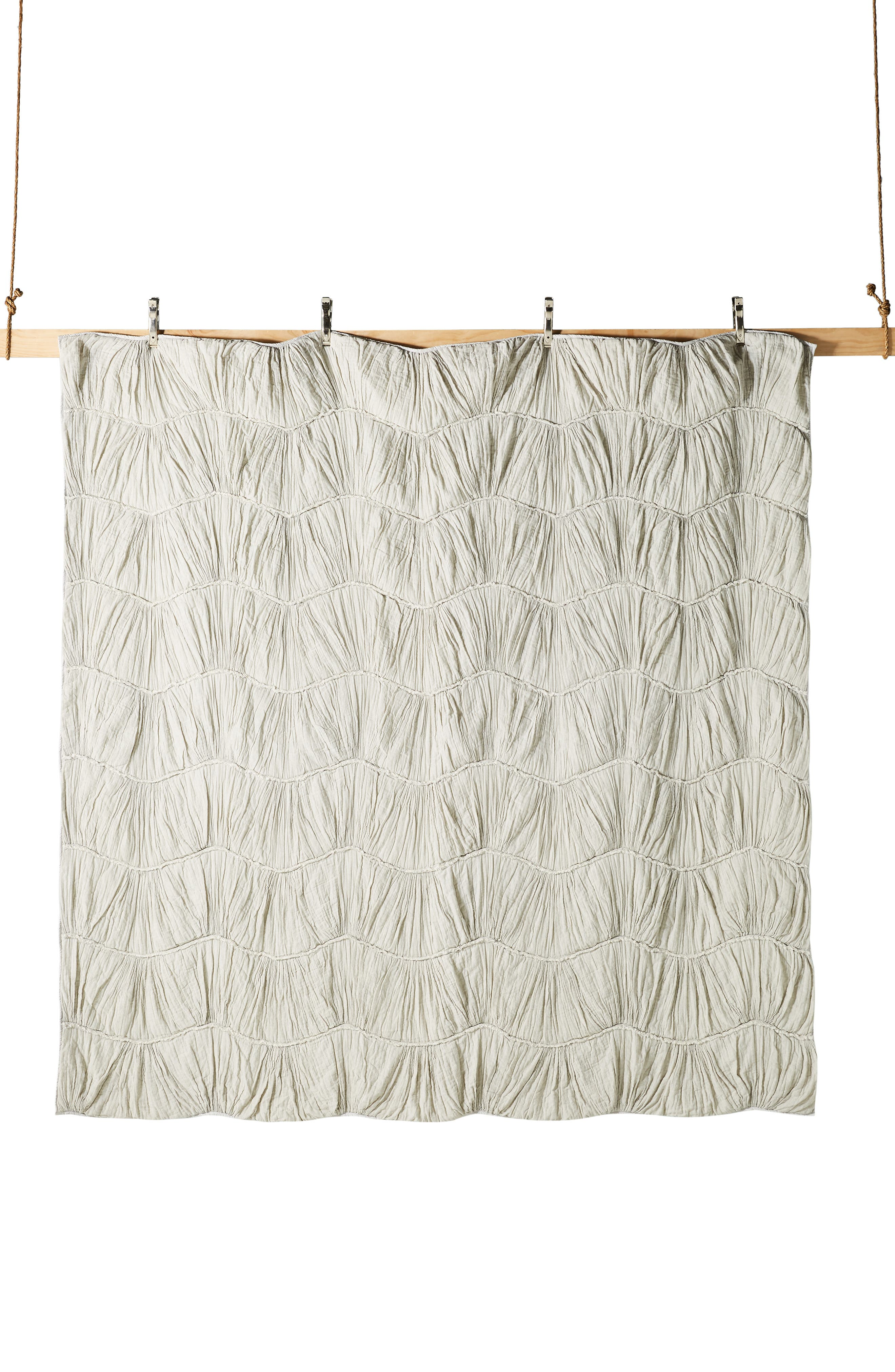 ,                             Ruched Wave Quilt,                             Alternate thumbnail 5, color,                             GREY