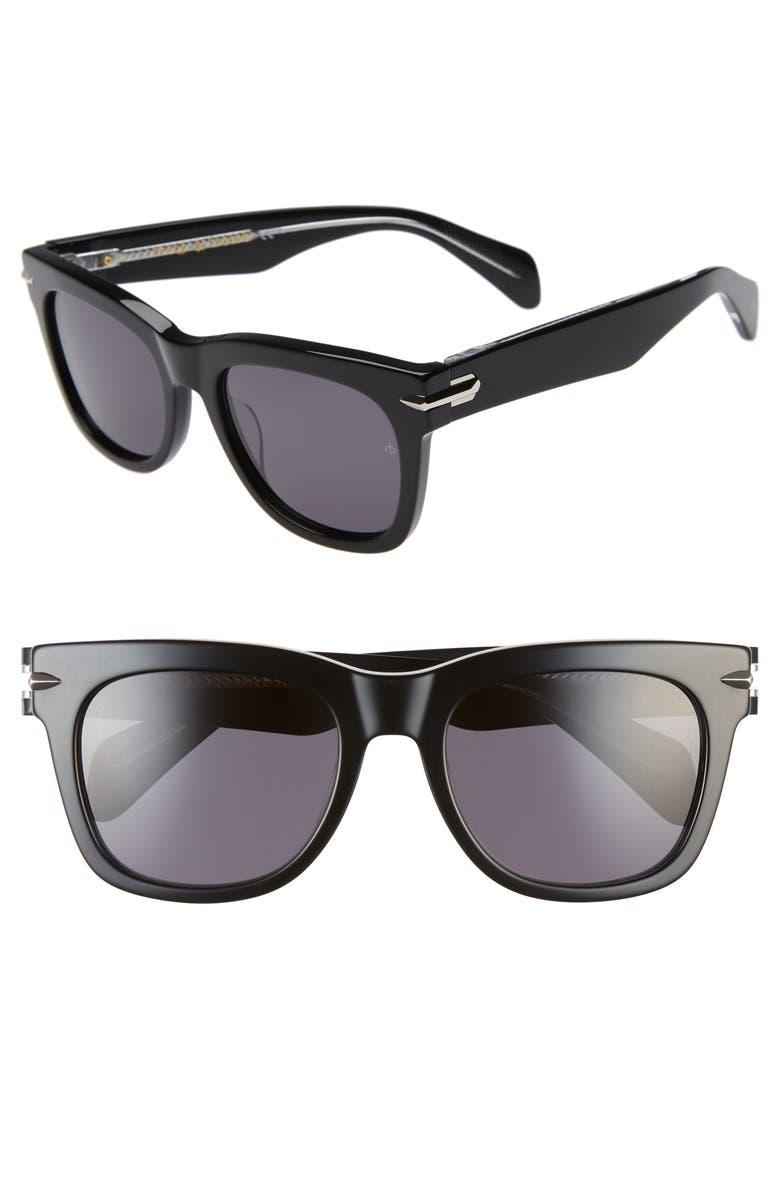 RAG & BONE 54mm Sunglasses, Main, color, 001