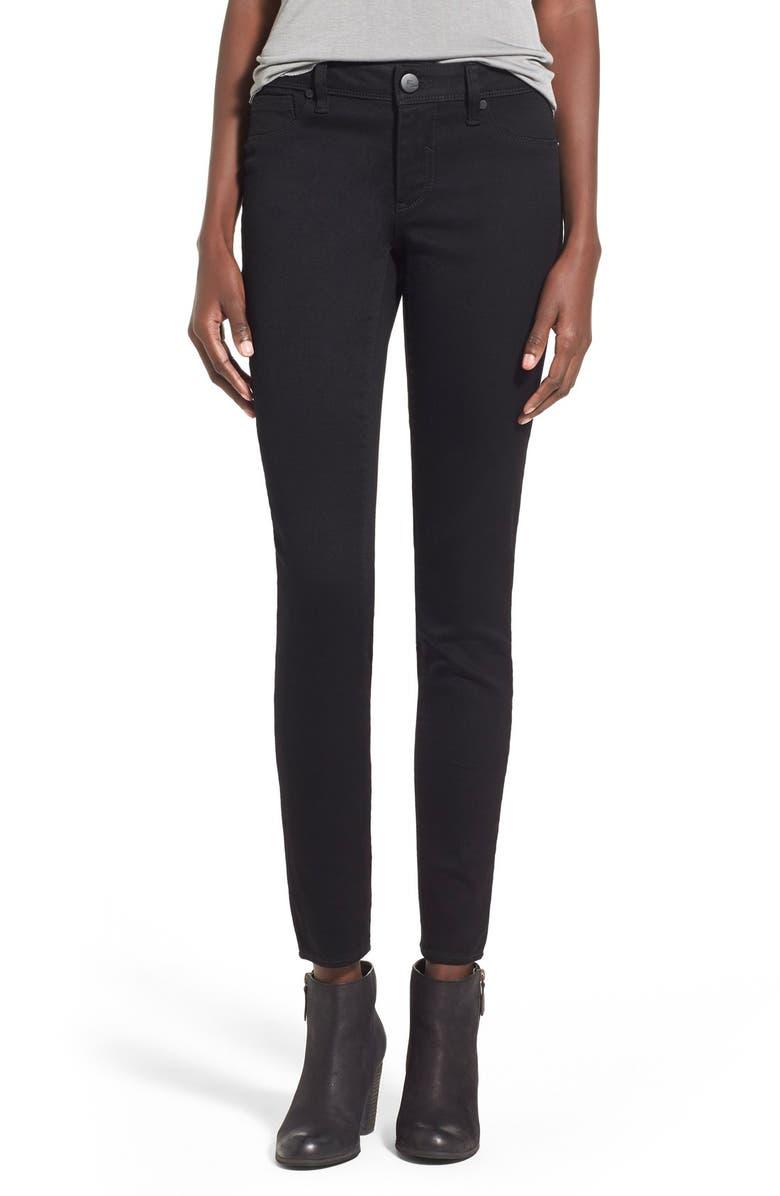1822 DENIM Butter Skinny Jeans, Main, color, BLACK