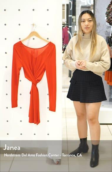 Faith Long Sleeve Tie Waist Minidress, sales video thumbnail