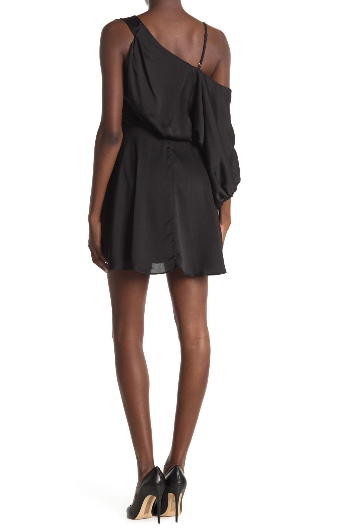 Do + Be Cold Shoulder Unbalanced Dress