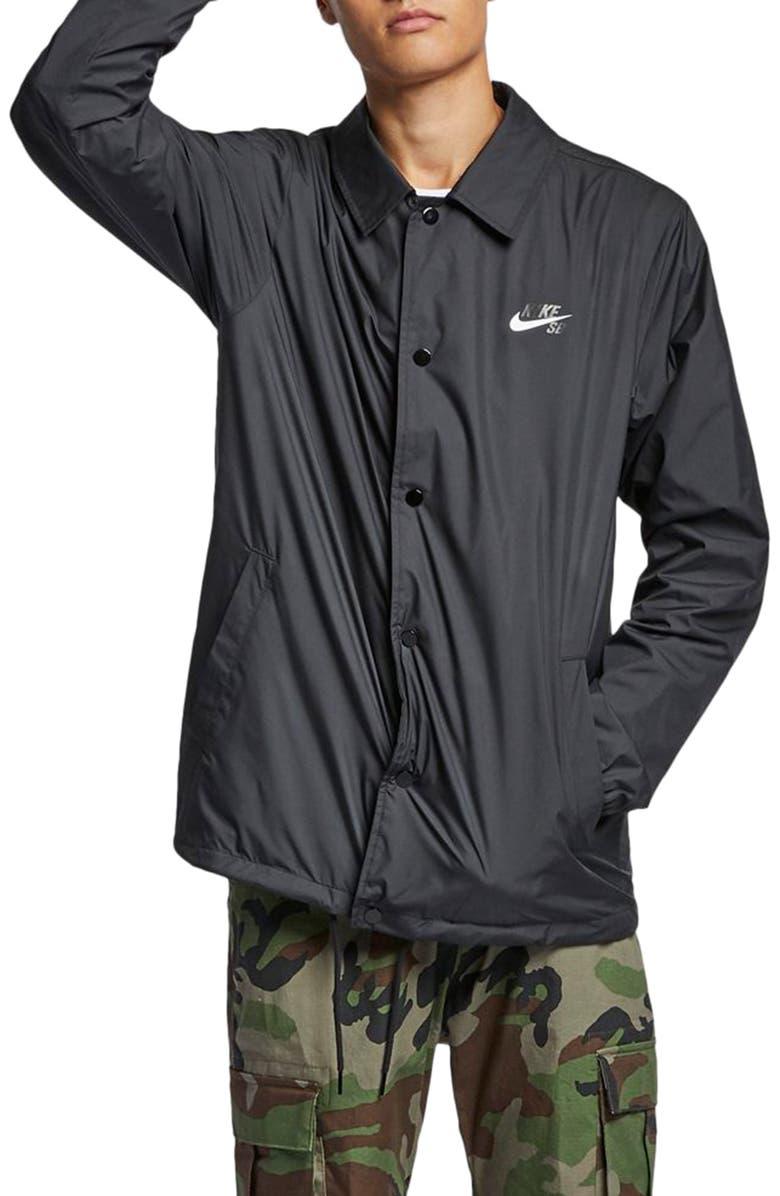 NIKE SB Shield Water Repellent Jacket, Main, color, 010