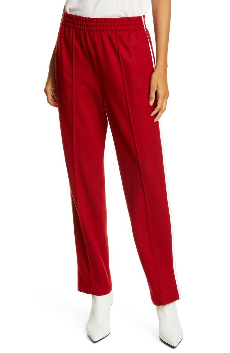 RAG & BONE Rylie Wool Track Pants, Main, color, RED