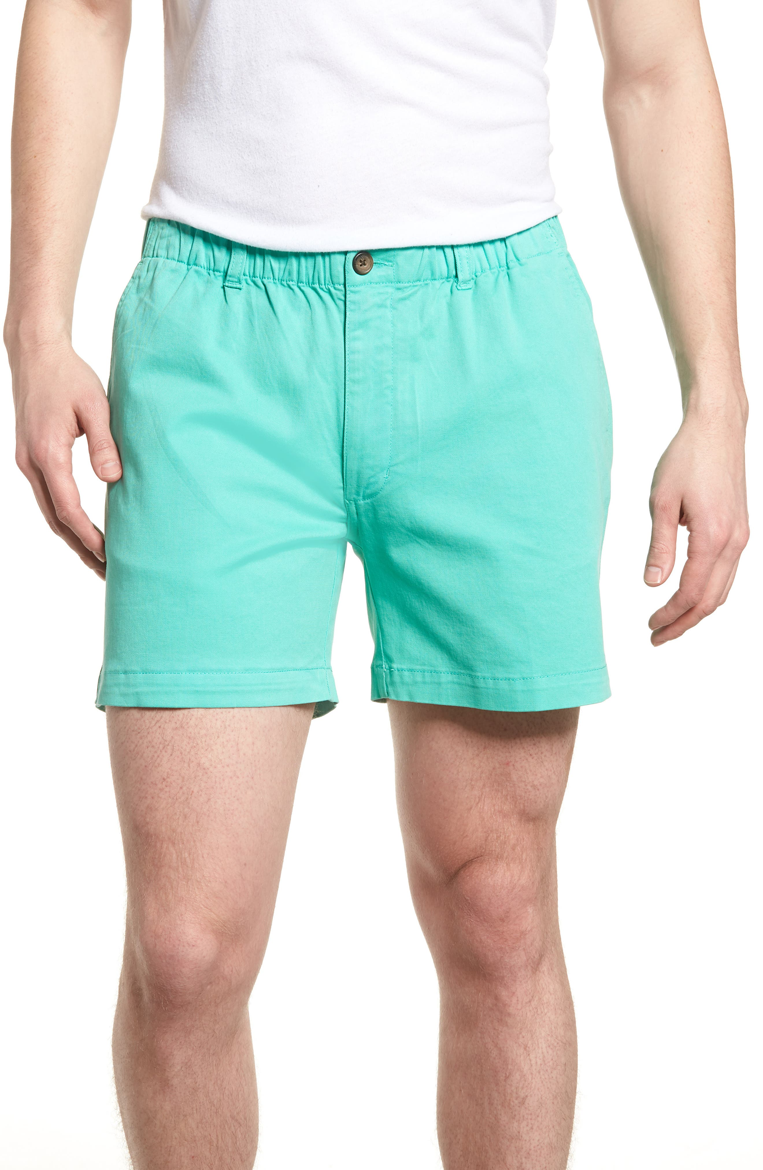 Vintage Men's Swimsuits – 1930s to 1970s History Mens Vintage 1946 Snappers Elastic Waist 5.5 Inch Stretch Shorts Size X-Large - Bluegreen $55.00 AT vintagedancer.com
