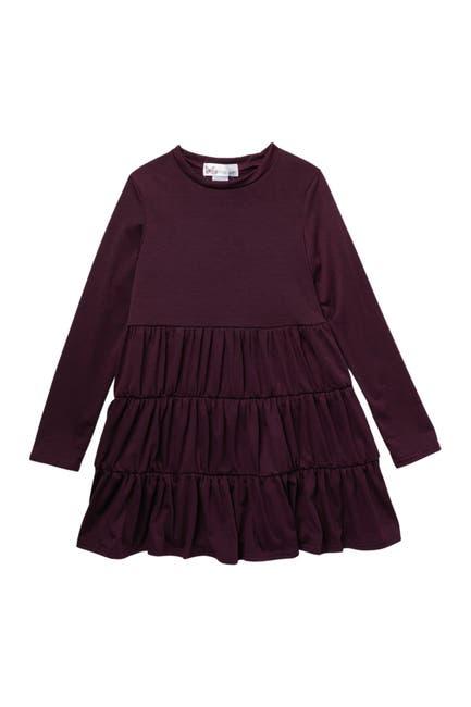 Image of Cotton Emporium Long Sleeve Smocked Tiered Dress