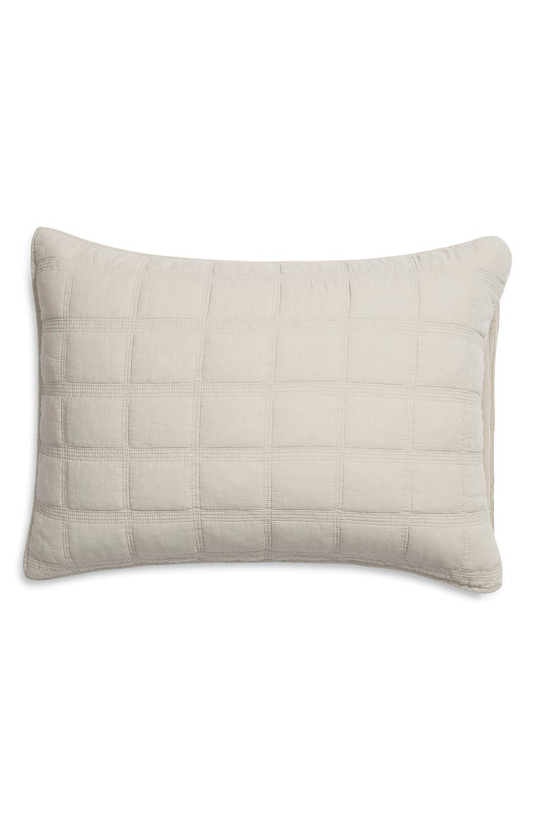 TREASURE & BOND Quilted Everyday Stonewashed Sham, Main, color, 050