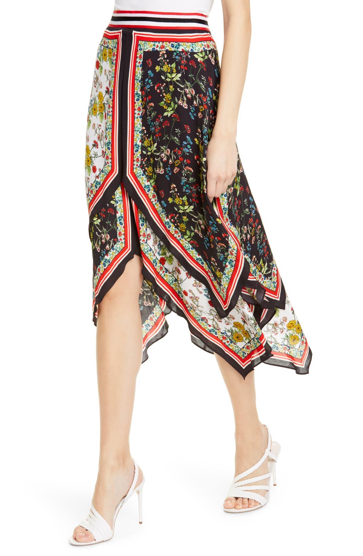 c498babd196 Alice + Olivia Maura Tiered Handkerchief Skirt | Nordstrom