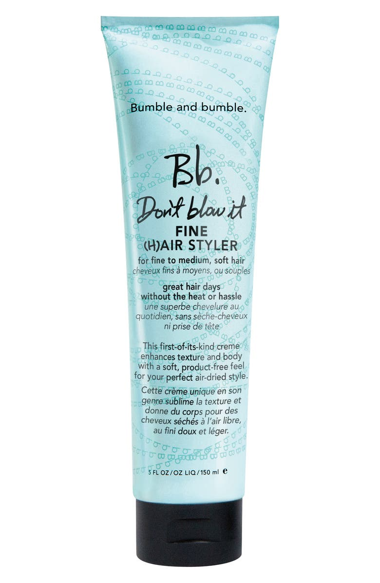 BUMBLE AND BUMBLE. Don't Blow It Fine Hair Styler, Main, color, 000