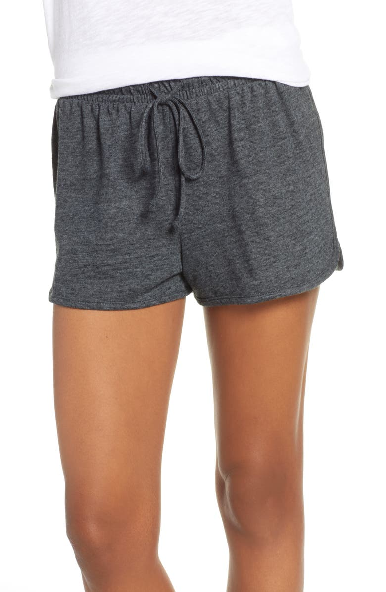 JOE'S Retro Pajama Shorts, Main, color, HEATHER BLACK - HBK