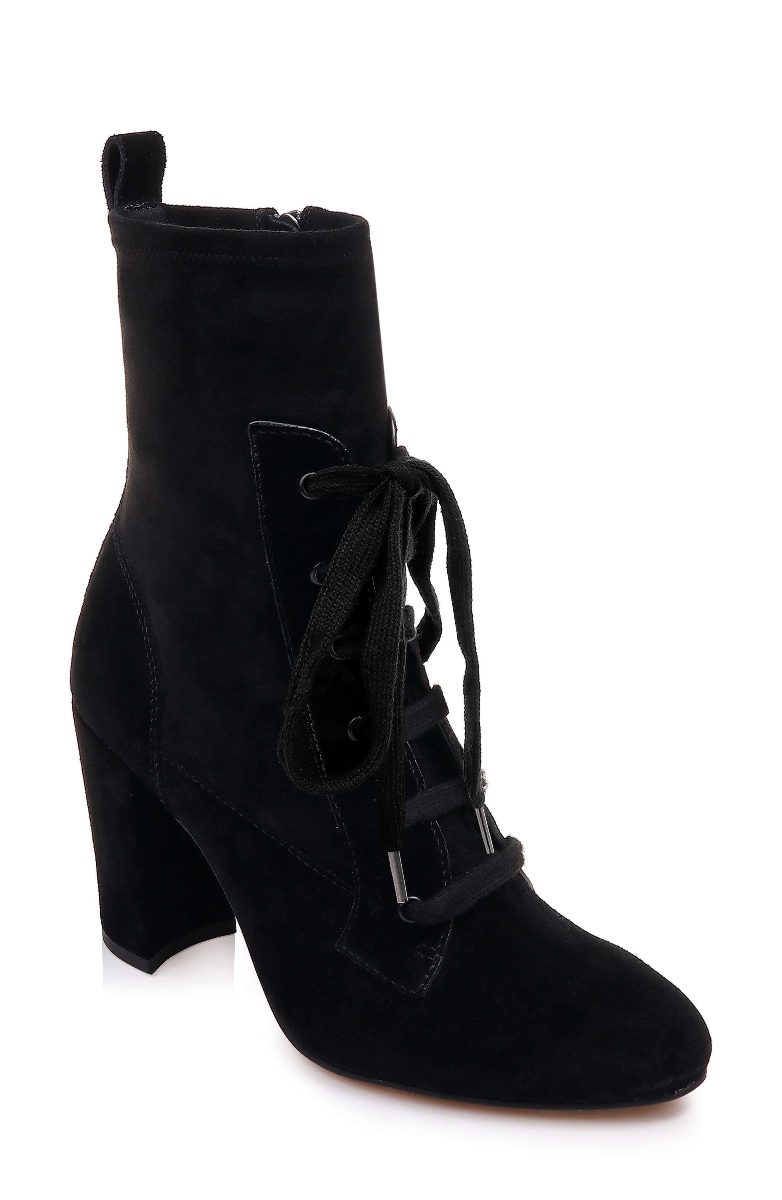 Splendid Hacken Lace-Up Boot, Black