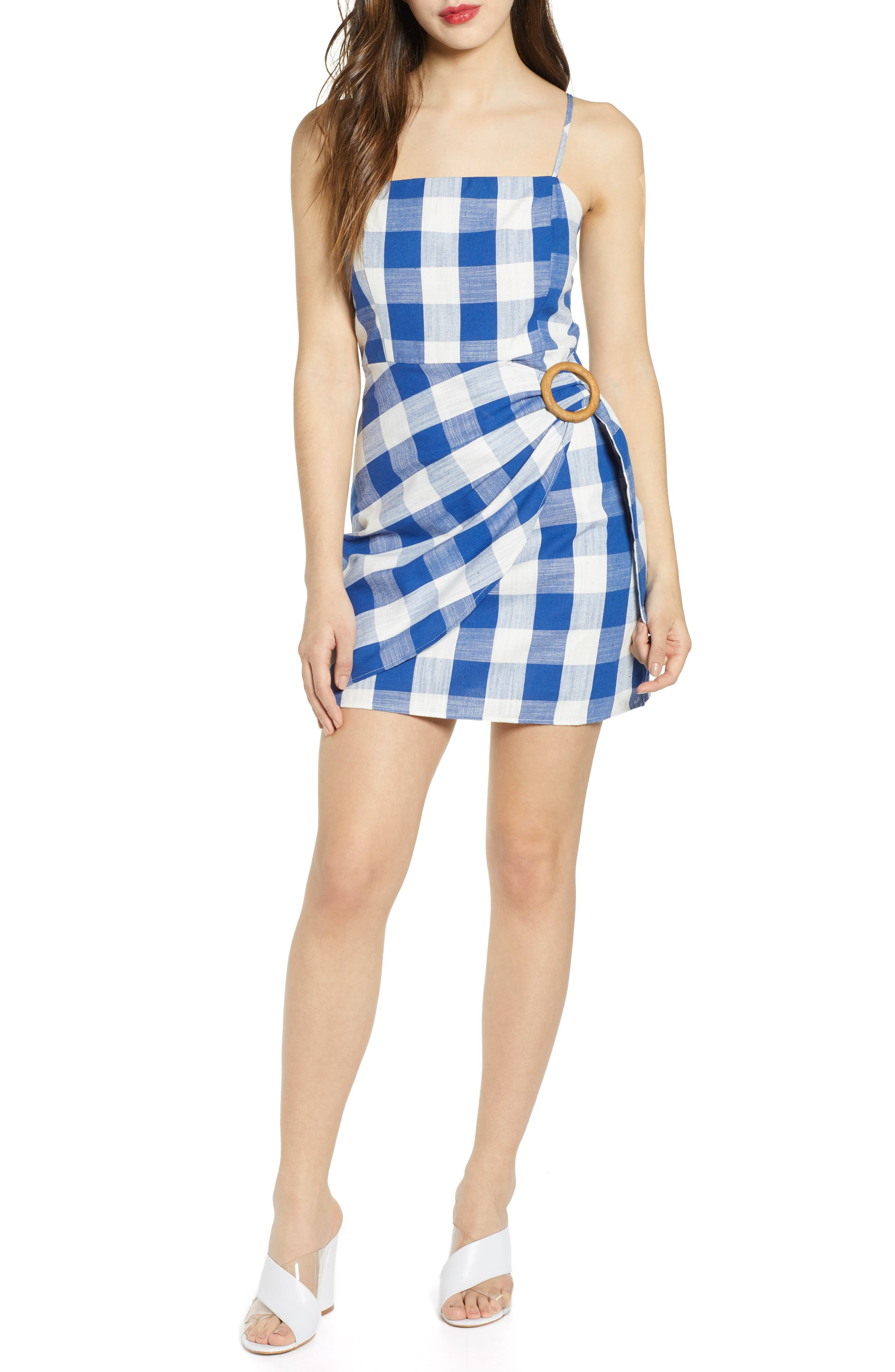 J.o.a. Plaid Minidress, Blue