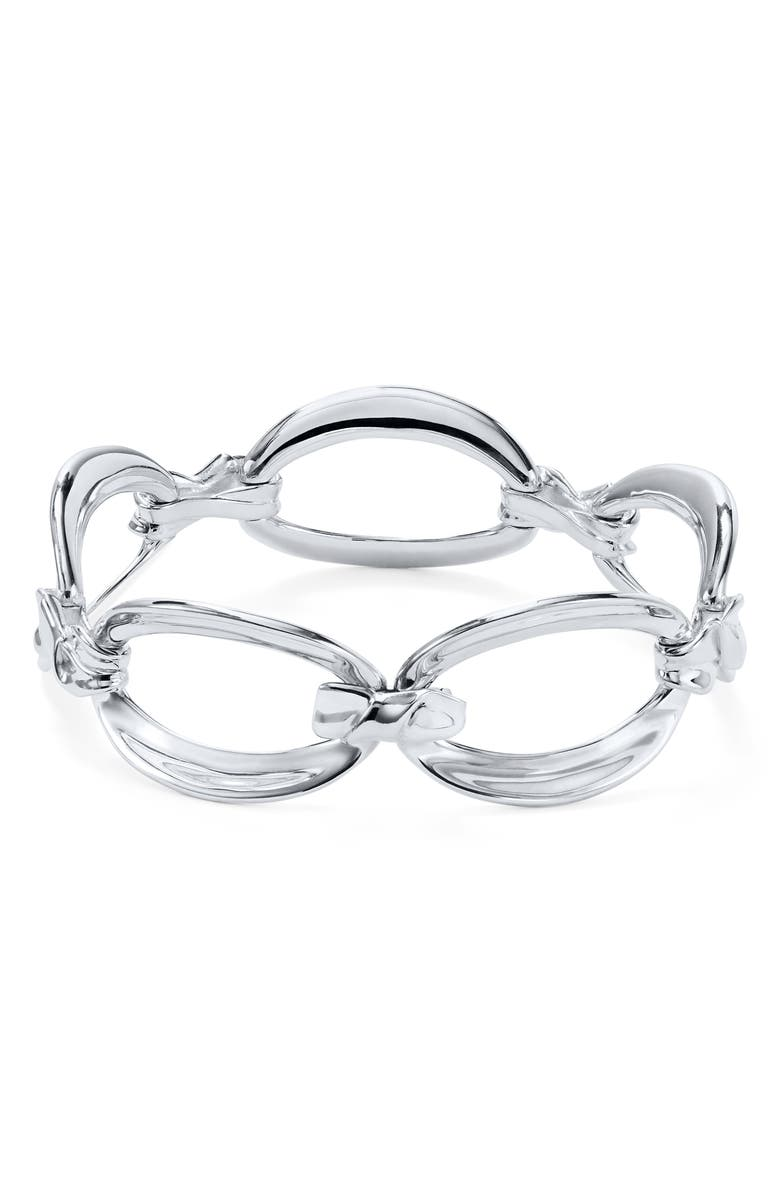 IPPOLITA Classico Flexible Twisted Bracelet, Main, color, SILVER