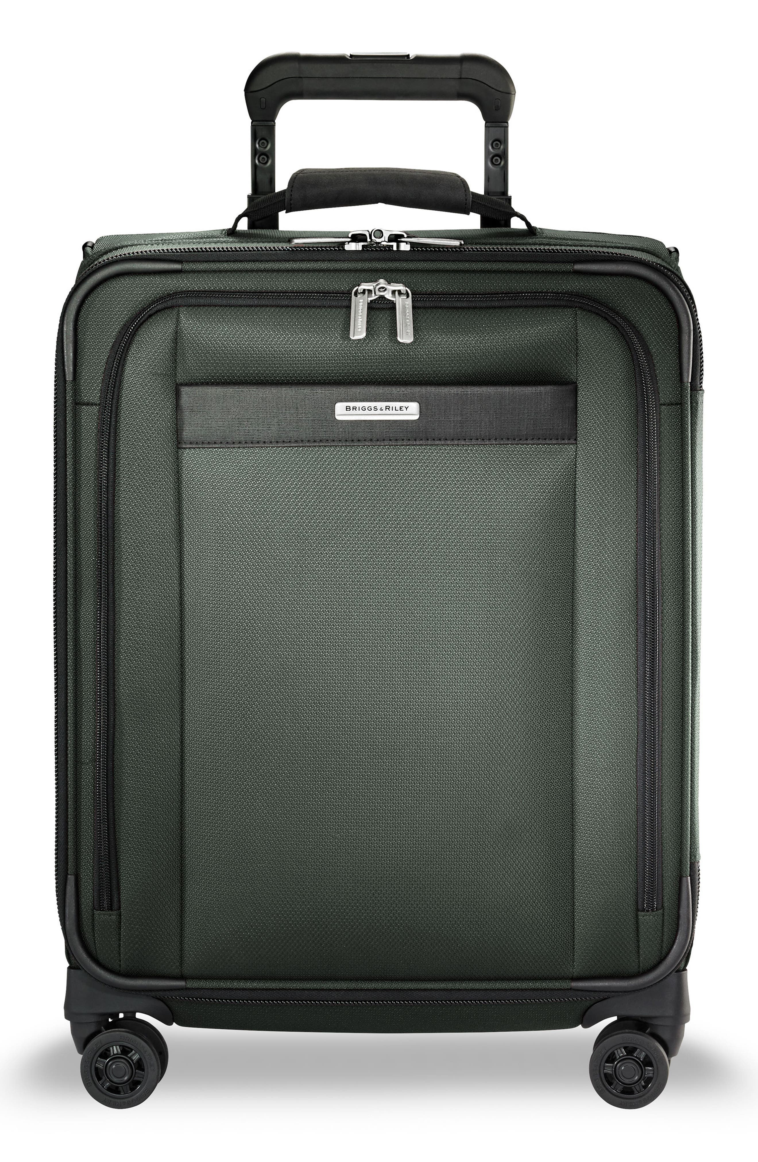 Transcend VX Wide Expandable 21-Inch Spinner Suitcase, Main, color, RAINFOREST GREEN