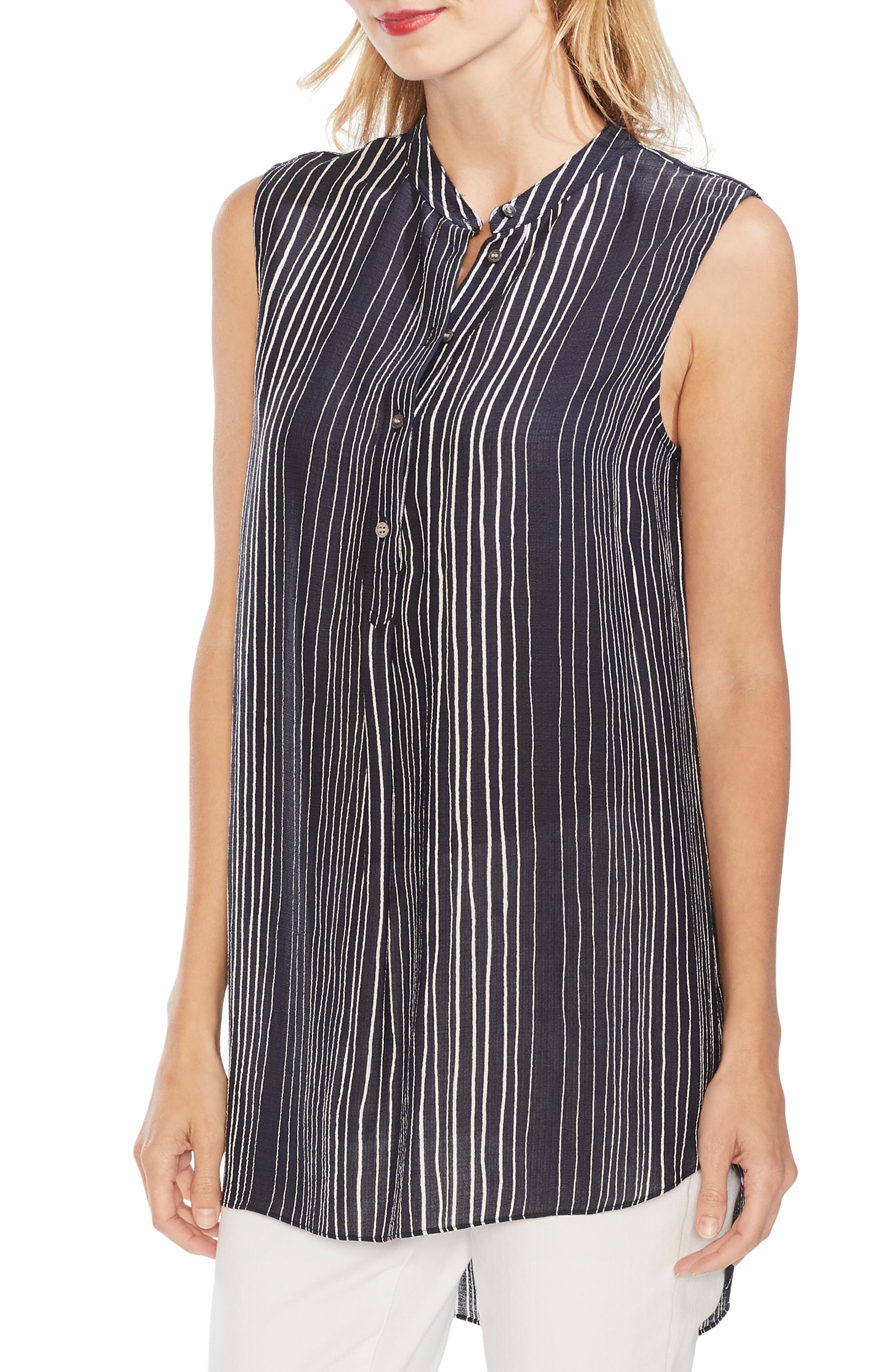 Delicate Strands Henley Tunic, Main, color, CLASSIC NAVY