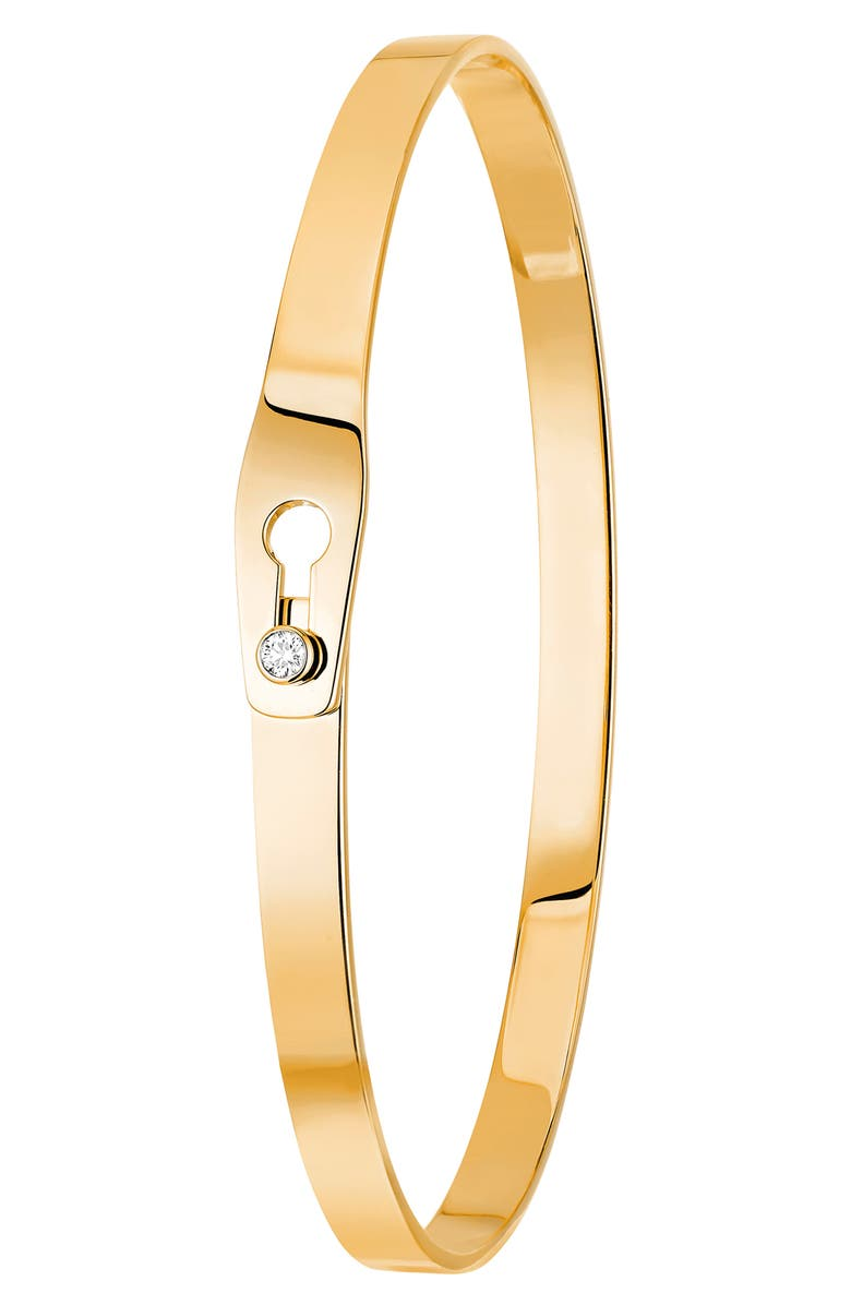 DINH VAN Serrure Diamond & 18K Gold Bracelet, Main, color, 710