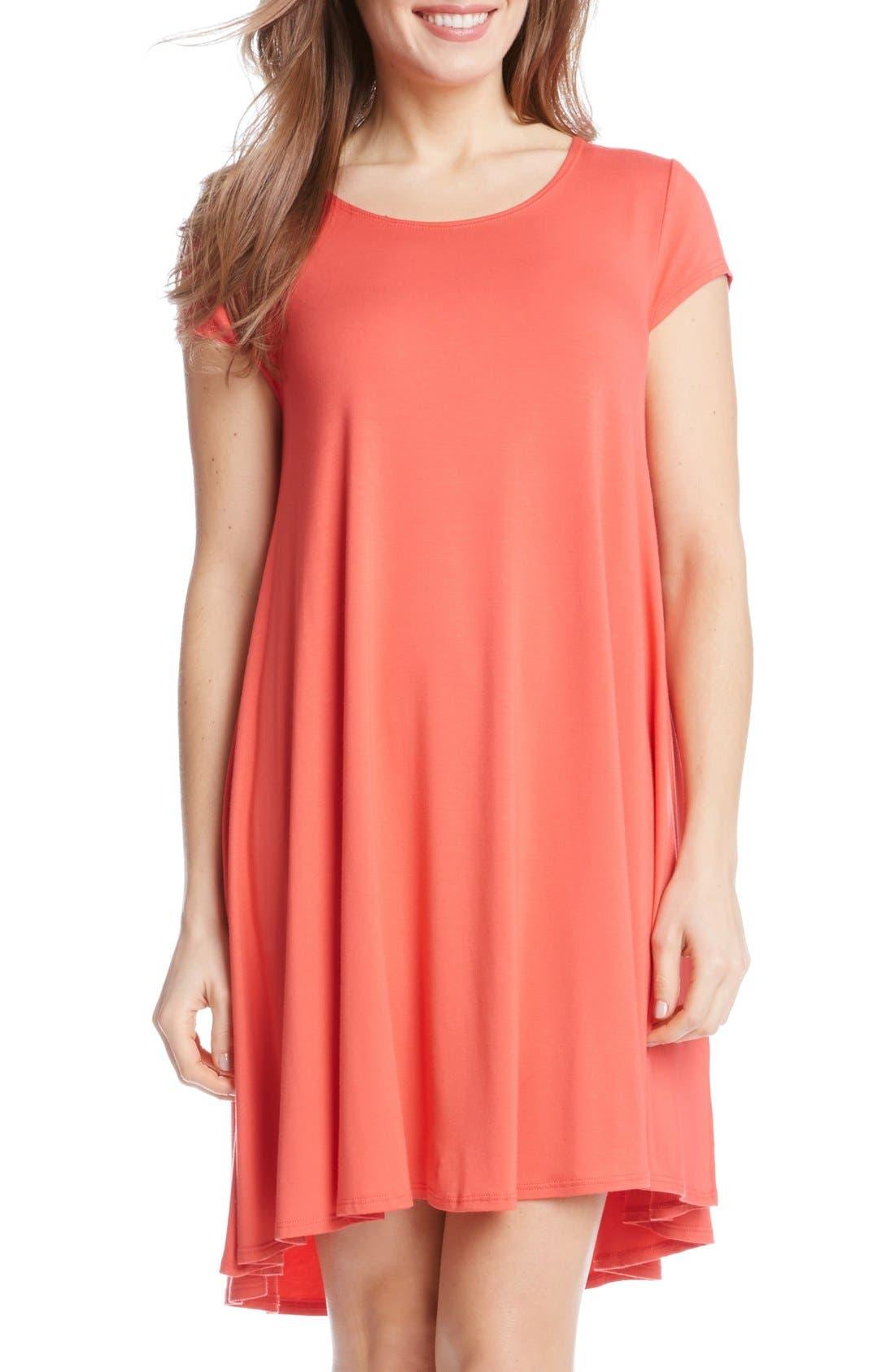 ,                             'Maggie' Cap Sleeve Trapeze Dress,                             Main thumbnail 25, color,                             676