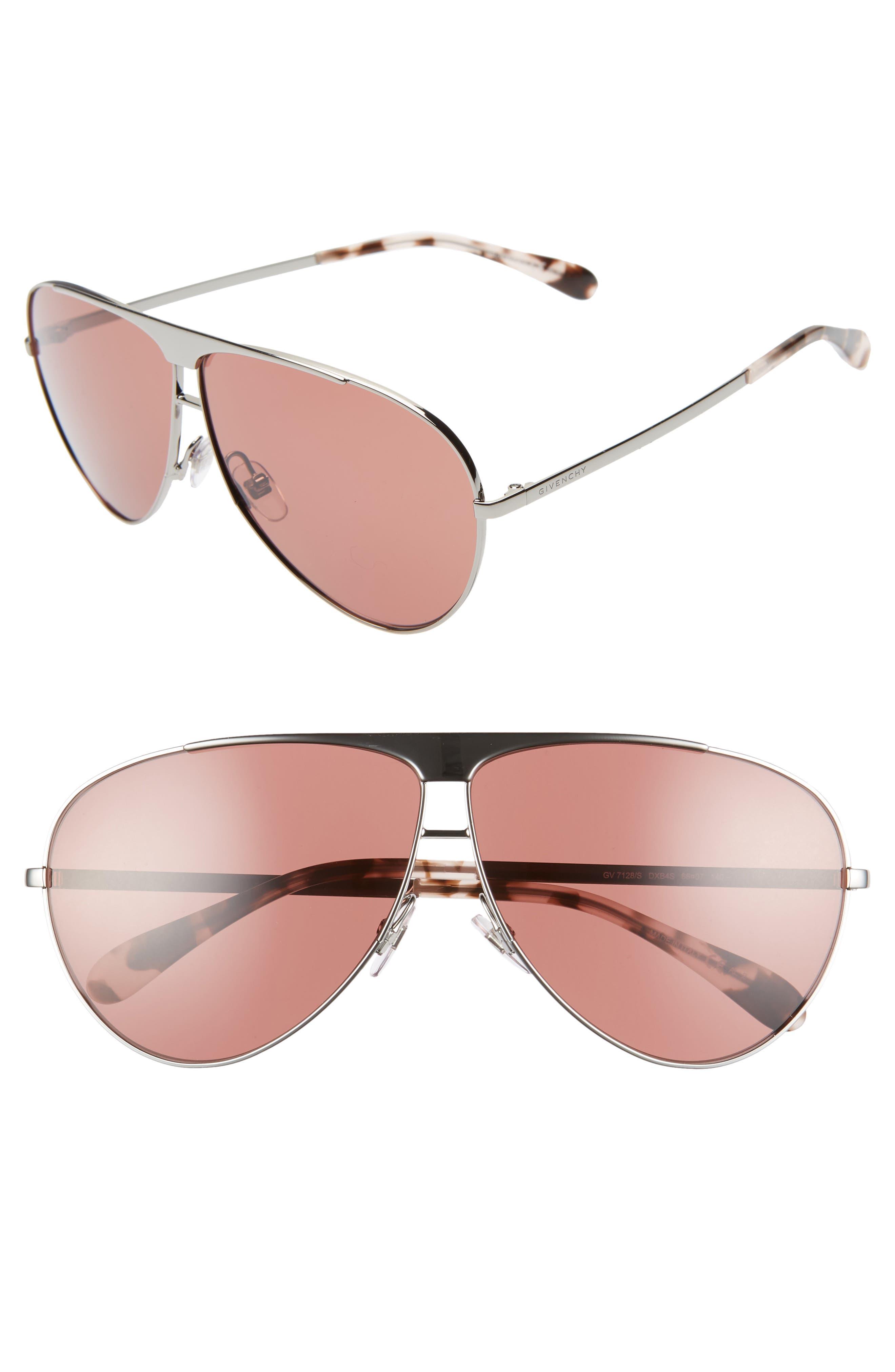 Givenchy 6m Aviator Sunglasses - Ruthenium/ Dark Red