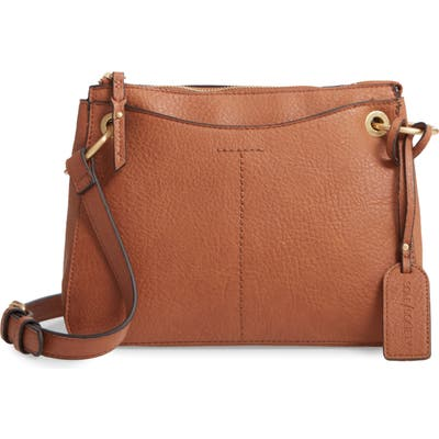 Sole Society Nayah Faux Leather Crossbody Bag - Brown