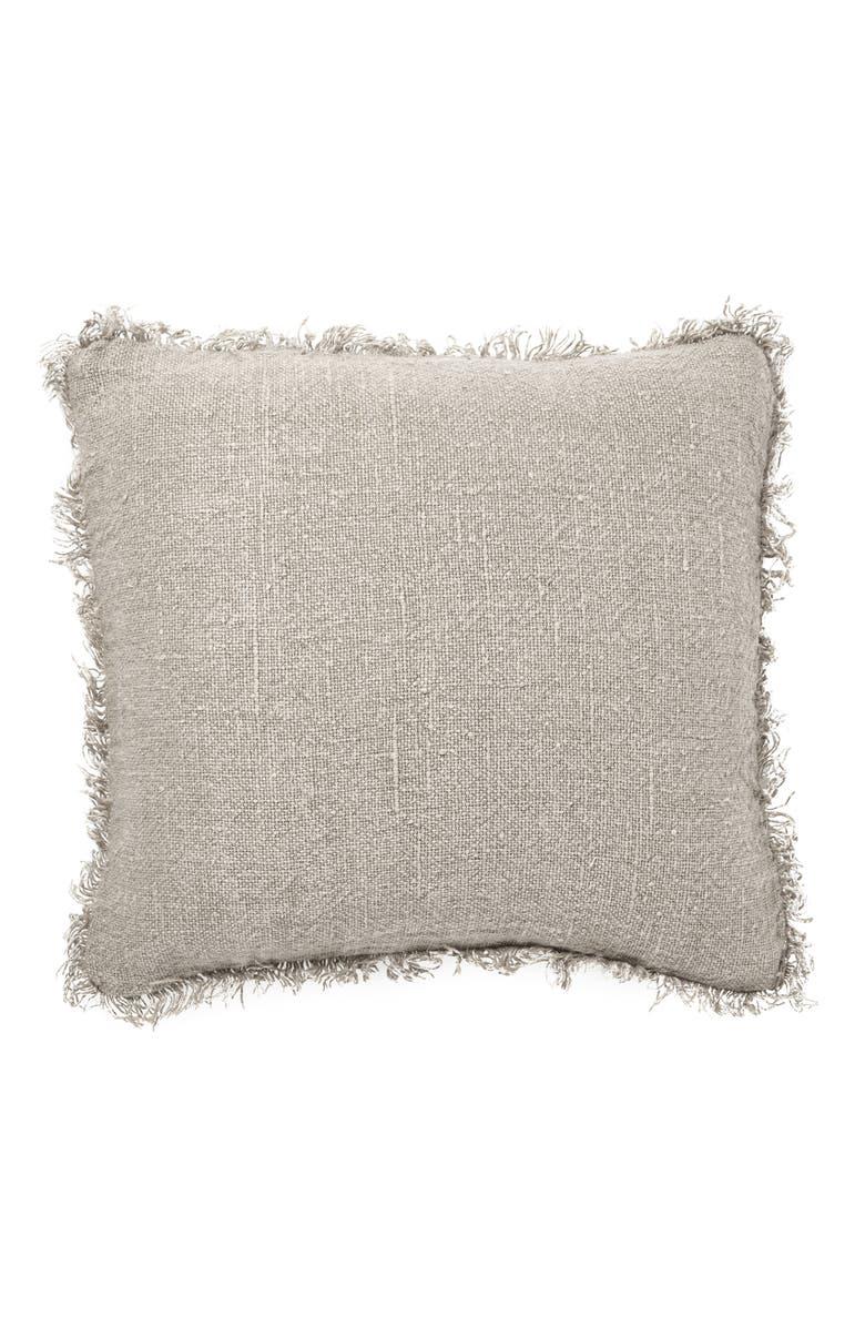 EADIE LIFESTYLE Linen Accent Pillow, Main, color, NATURAL