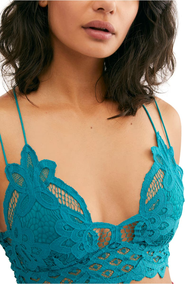 FREE PEOPLE Intimately FP Adella Longline Bralette, Main, color, DARK TURQ