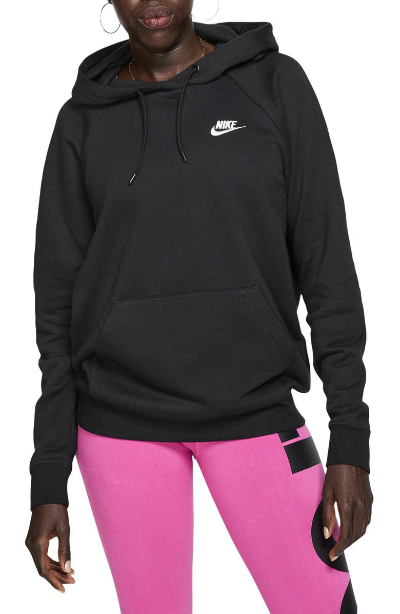 NIKE Sportswear Essential Pullover Fleece Hoodie, Main, color, 010