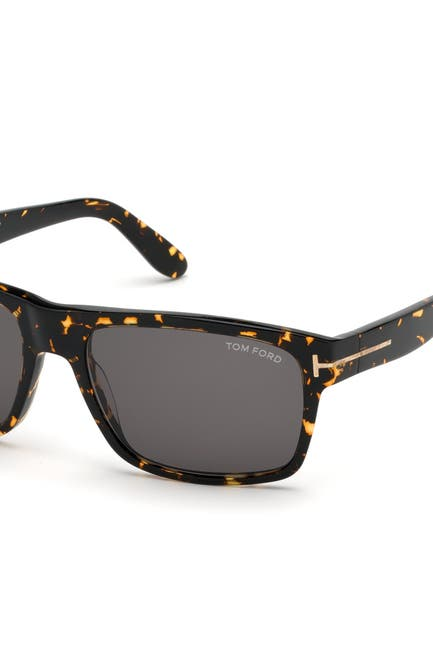 Image of Tom Ford August 56mm Square Sunglasses