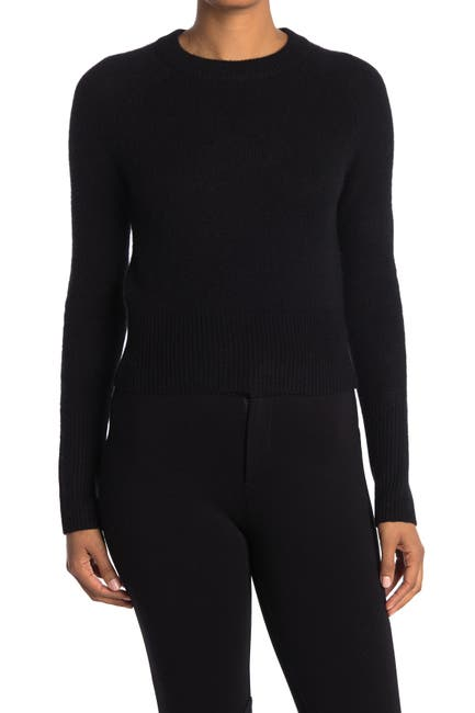 Image of 360 Cashmere Jessika Ribbed Crew Neck Cashmere Sweater