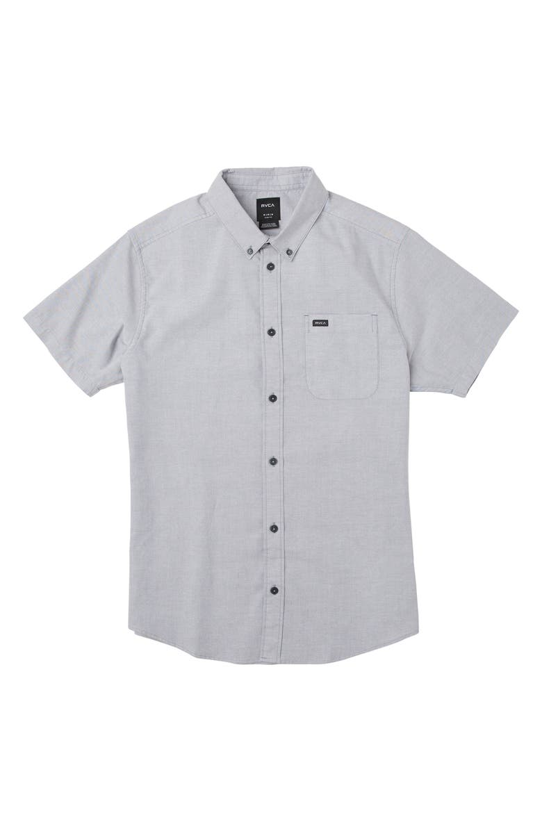 RVCA That'll Do Stretch Woven Shirt, Main, color, PAVEMENT