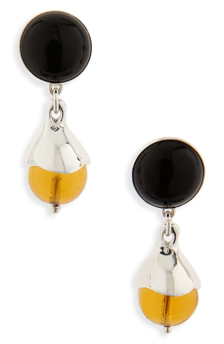 FARIS Chapeau Drop Earrings, Main, color, STERLING SILVER