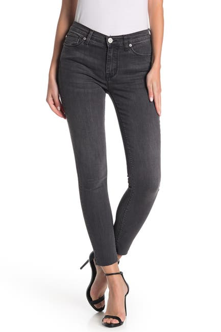 Image of HUDSON Jeans Natalie Raw Ankle Skinny Jeans