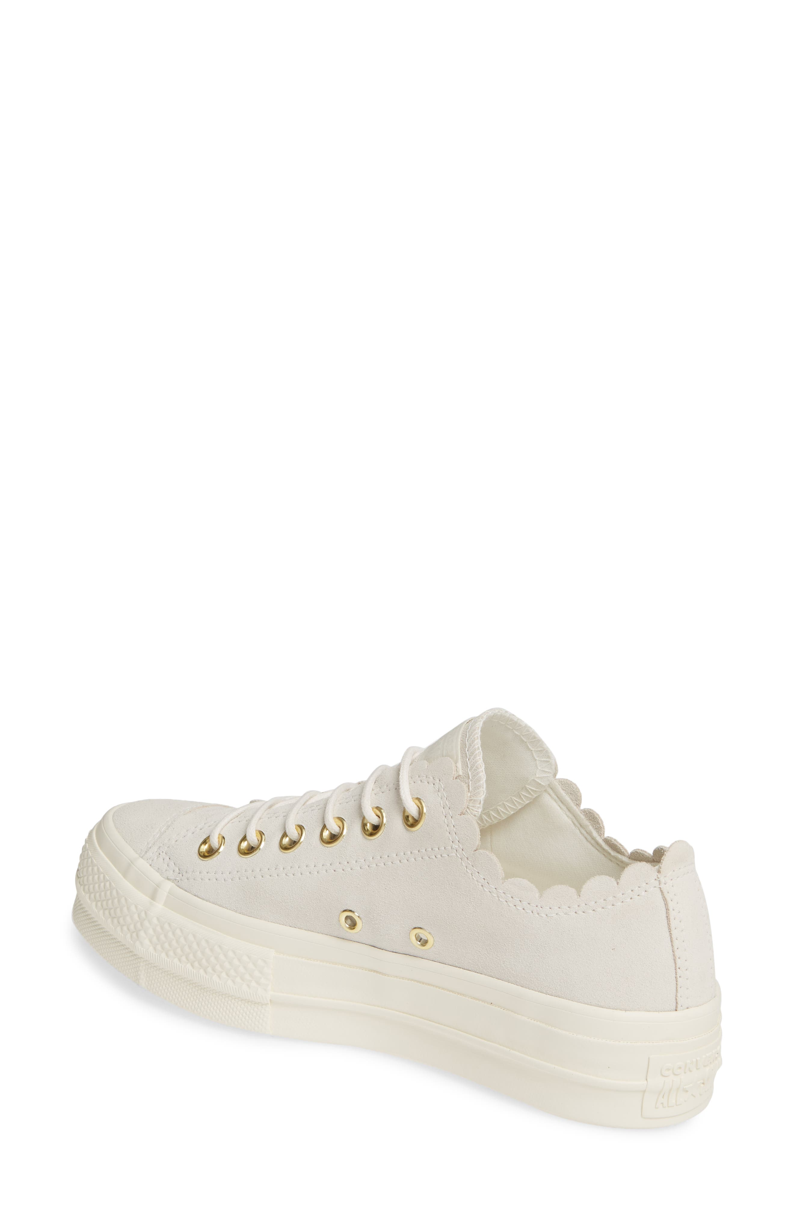 ,                             Chuck Taylor<sup>®</sup> All Star<sup>®</sup> Frilly Scallop Platform Sneaker,                             Alternate thumbnail 2, color,                             020