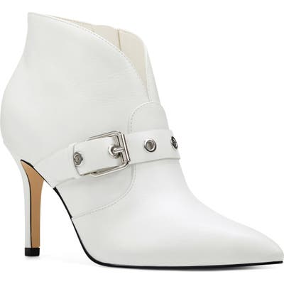 Nine West Jax Heel Bootie, White