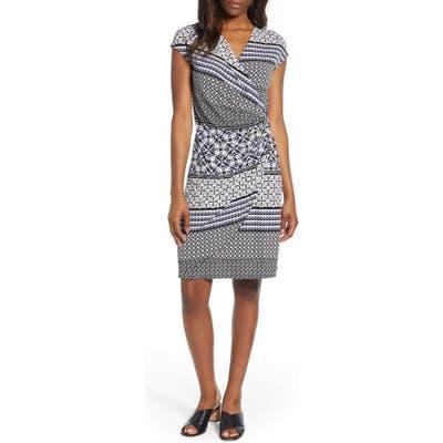 Tommy Bahama Tropical Terrazza Faux Wrap Dress, Black