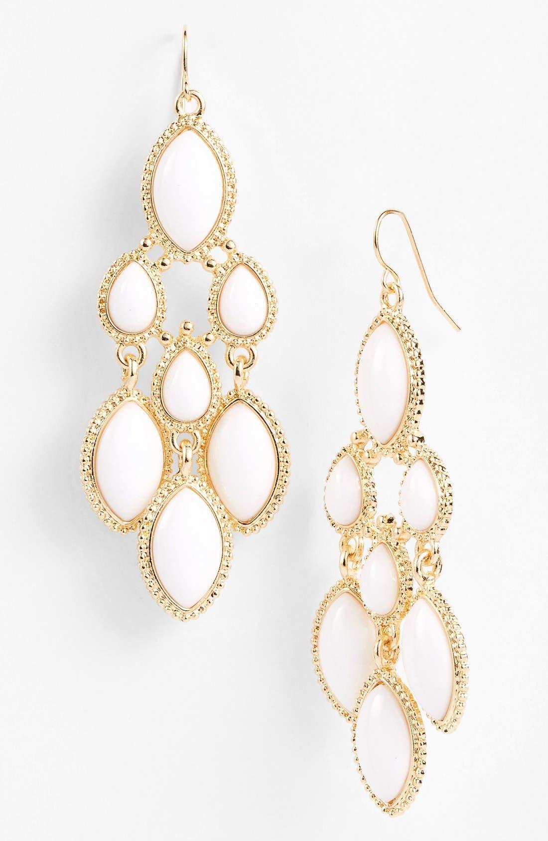 Chandelier Earrings, Main, color, 100