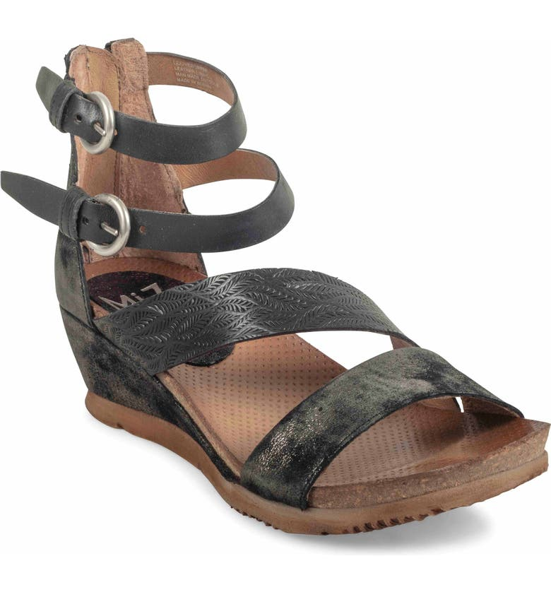 MIZ MOOZ Millie Wedge Sandal, Main, color, 001